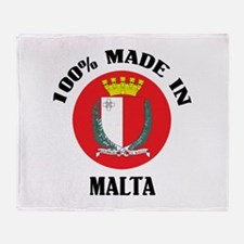 Made In Malta Throw Blanket