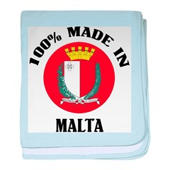 Made In Malta baby blanket