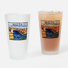 Vintage Malta Art Pint Glass