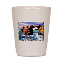 Vintage Malta Art Shot Glass