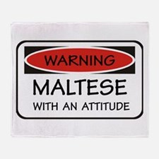 Attitude Maltese Throw Blanket