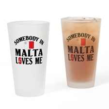 Somebody In Malta Pint Glass