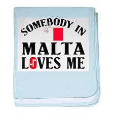 Somebody In Malta baby blanket
