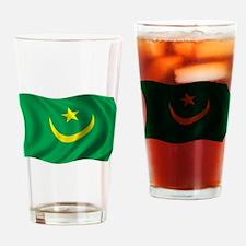 Wavy Mauritania Flag Pint Glass