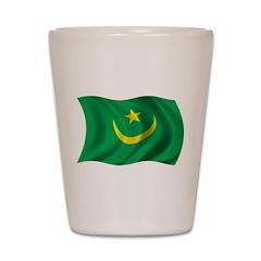 Wavy Mauritania Flag Shot Glass