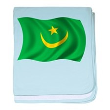Wavy Mauritania Flag baby blanket