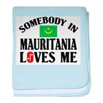 Somebody In Mauritania baby blanket