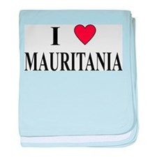 I Love Mauritania baby blanket