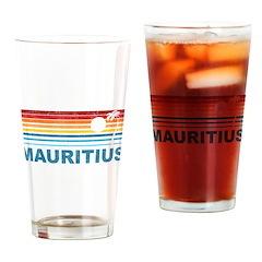 Retro Mauritius Palm Tree Pint Glass