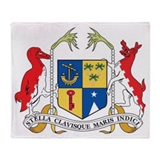 Mauritius Coat Of Arms Throw Blanket