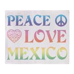 Peace Love Mexico Throw Blanket