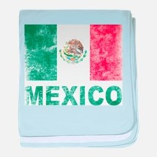 Vintage Mexico baby blanket