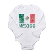Vintage Mexico Long Sleeve Infant Bodysuit