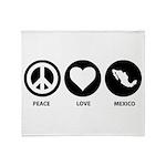 Peace Love Mexico Throw Blanket