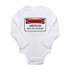Attitude Mexican Long Sleeve Infant Bodysuit