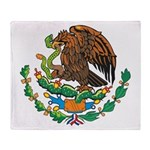 Mexico Coat Of Arms Throw Blanket