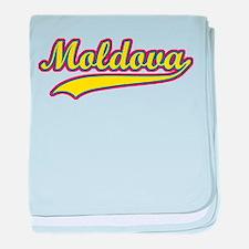 Retro Moldova baby blanket
