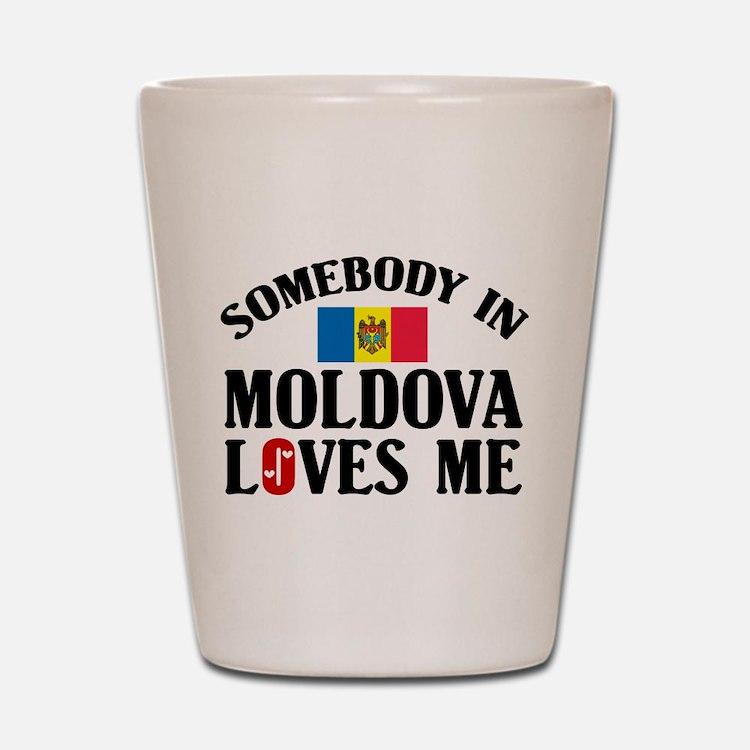 Somebody In Moldova Shot Glass