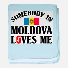 Somebody In Moldova baby blanket