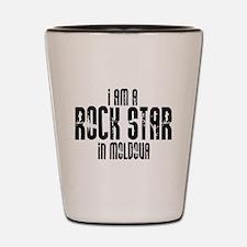 Rock Star In Moldova Shot Glass