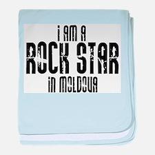 Rock Star In Moldova baby blanket