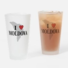 I Love Moldova Pint Glass