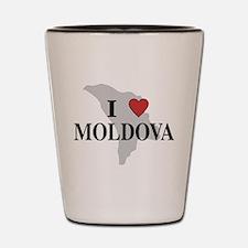 I Love Moldova Shot Glass
