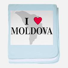 I Love Moldova baby blanket