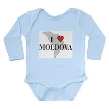 I Love Moldova Long Sleeve Infant Bodysuit