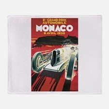 Monaco Grand Prix 1930 Throw Blanket