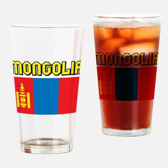 Mongolia Flag Pint Glass