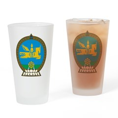 Mongolia Coat Of Arms Pint Glass