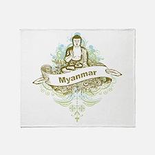 Buddha Myanmar Throw Blanket