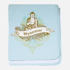 Buddha Myanmar baby blanket
