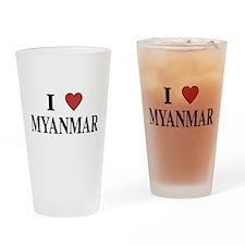 I Love Myanmar Pint Glass
