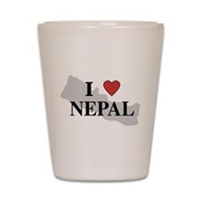 I Love Nepal Shot Glass