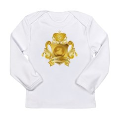 Gold Football Netherlands Long Sleeve Infant T-Shi