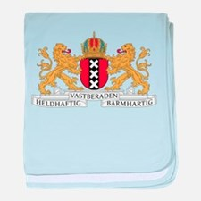 Amsterdam Coat Of Arms baby blanket