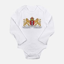 Amsterdam Coat Of Arms Long Sleeve Infant Bodysuit