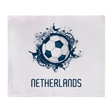 Netherlands Football Throw Blanket