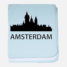 Amsterdam Skyline baby blanket