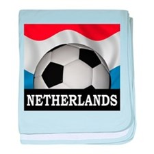 Football Netherlands baby blanket