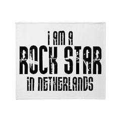 Rock Star In Netherlands Throw Blanket