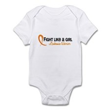 Licensed Fight Like a Girl 6.4 Leu Infant Bodysuit