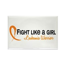 Licensed Fight Like a Girl 6.4 Le Rectangle Magnet