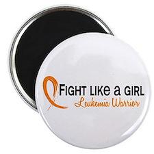 Licensed Fight Like a Girl 6.4 Leukemia Magnet