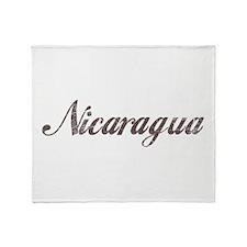 Vintage Nicaragua Throw Blanket