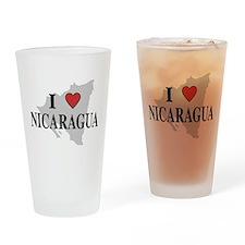 I Love Nicaragua Pint Glass