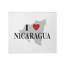 I Love Nicaragua Throw Blanket