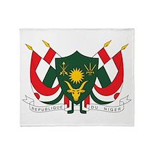 Niger Coat Of Arms Throw Blanket